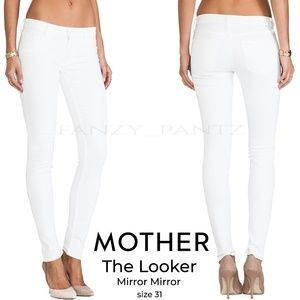 Mother Denim The Looker jeans white skinny 31
